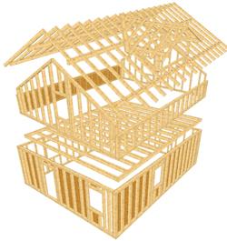 Holzrahmenbau konstruktion  WETO-Holzbau-Software