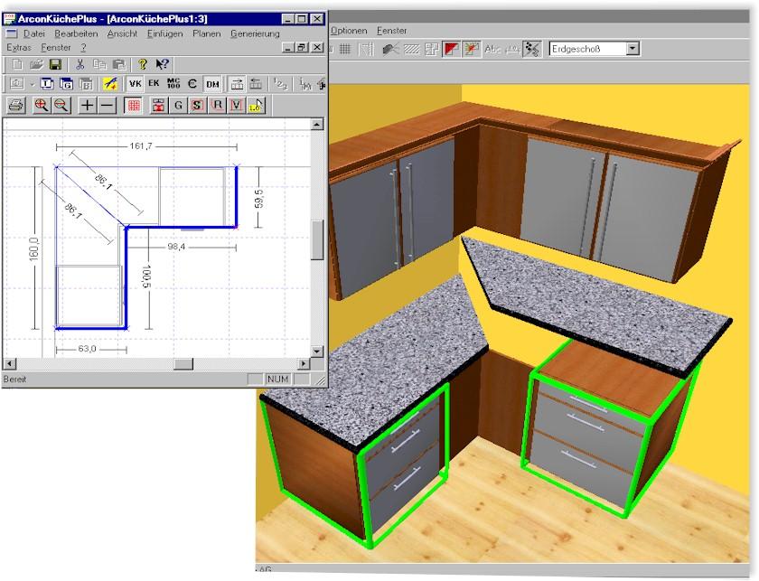 Küchenplanungssoftware planTEK 12 0 Standard