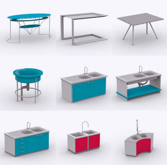 sch ner wohnen k che 370 3d k chen objekte f r arcon. Black Bedroom Furniture Sets. Home Design Ideas